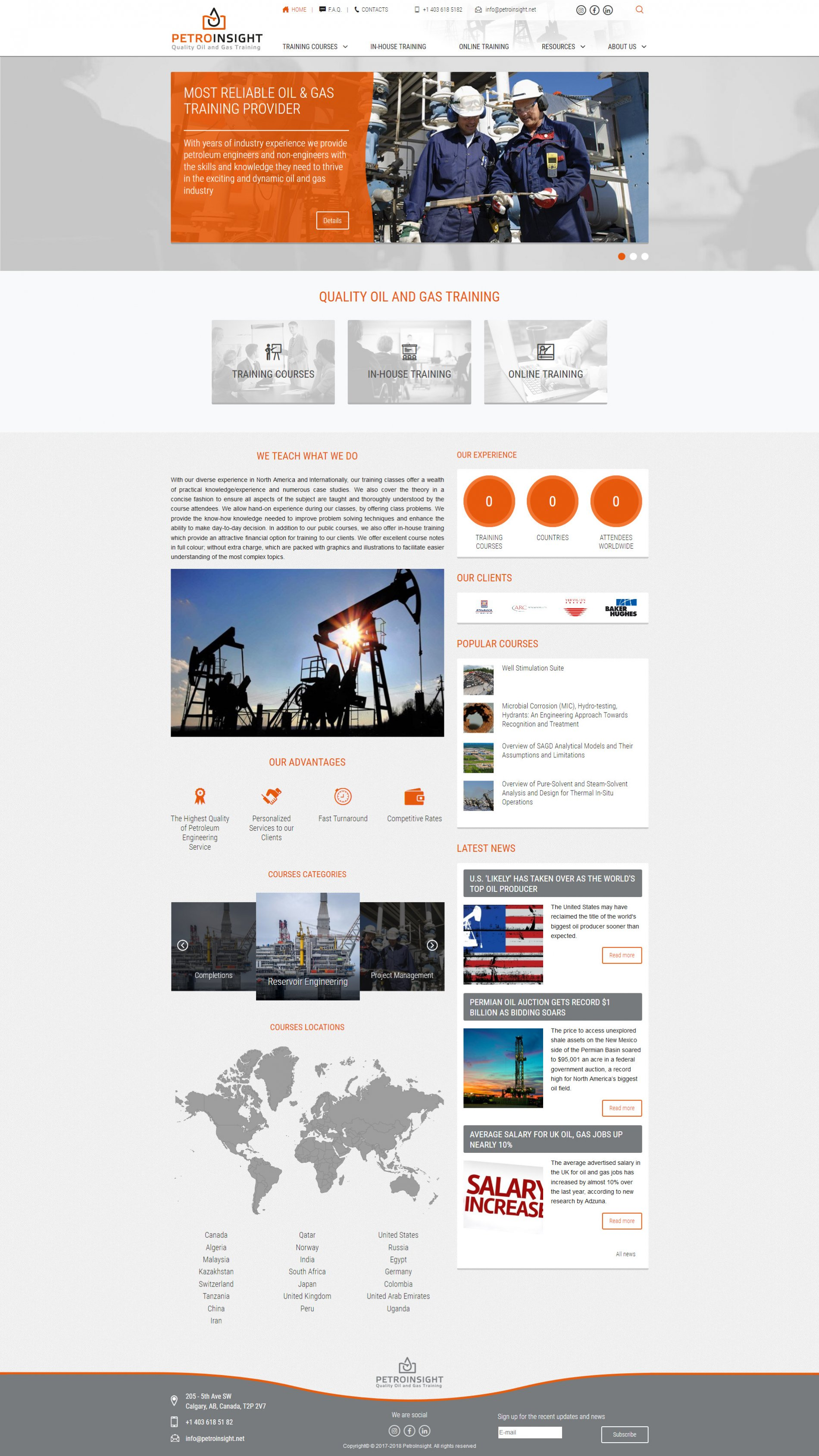 Головна сторінка Petroinsight